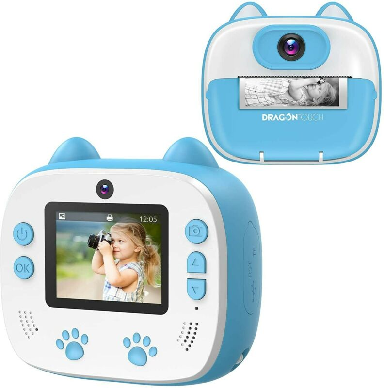 Dragon+Touch+Instant+Camera+For+Kids%2C+2+inch+1080P+Digital+Print+Camera+with+5+R