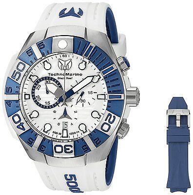 Technomarine TM-515020 Black/Reef Men's White/Blue Silicone 45mm