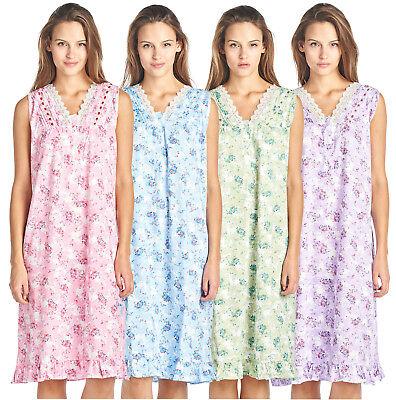 Long Sleeveless Nightgown (Casual Nights Women's Floral Lace and Ribbon Long Sleeveless Nightgown )