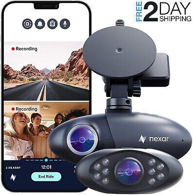 Nexar Pro GPS | Dual Dash Cam System 32GB SD Card Includ Road Interior Recording