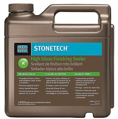StoneTech High Gloss Finishing Sealer for Natural Stone Tile and Grout, 1 Gallon