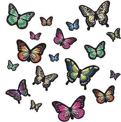 Butterfly Nursery Decor (BUTTERFLY WINGS 19 Wall Decals Room Decor Stickers Butterflies Rainbow)