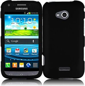 For Samsung Galaxy Victory 4G LTE L300 Rubberized Snap-On Hard Cover Case Black