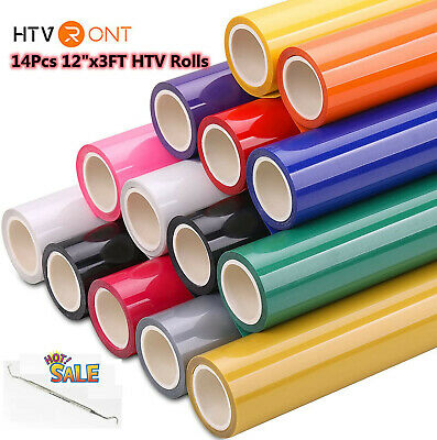 14 Pack Htv Bundle 12 X 36 Iron-on Heat Transfer Vinyl For Cricut Silhouette