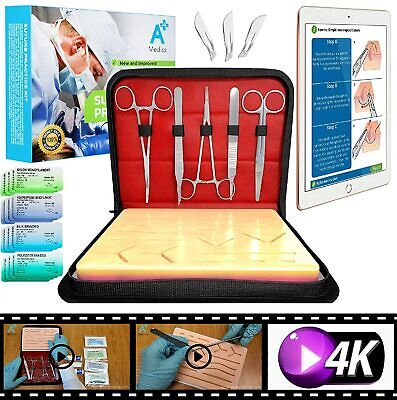 A Medics Suture Practice Kit Complete Kit W How To Suture Video Instructions