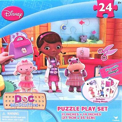 NEW  Disney Doc McStuffins Puzzle & Play Set 3 cling sheets Cardinal