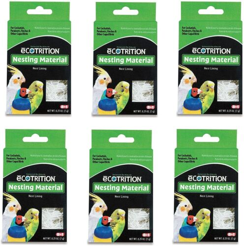 (6 Pack) 8-In-1 Pet Products Natural Cotton Fiber Bird Nesting Material .25 oz e