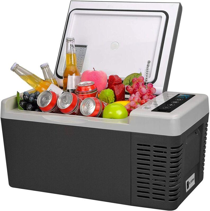 Portable Car Fridge Freezer Cooler Mini Refrigerator 20QT 12V/24V Compressor