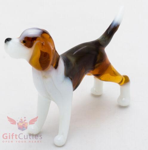 Art Blown Glass Figurine of the Beagle dog