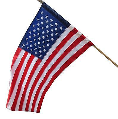 3x5 Foot US USA AMERICAN FLAG SLEEVE & HEM House Pole BANNER POCKET