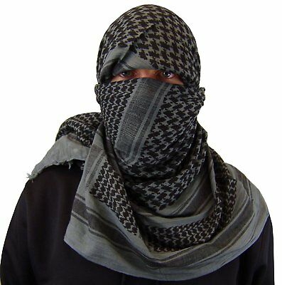 """Shemagh Tactical Military Desert Army Head Scarf 42""""x42"""" Normal Weight (Grey)"""