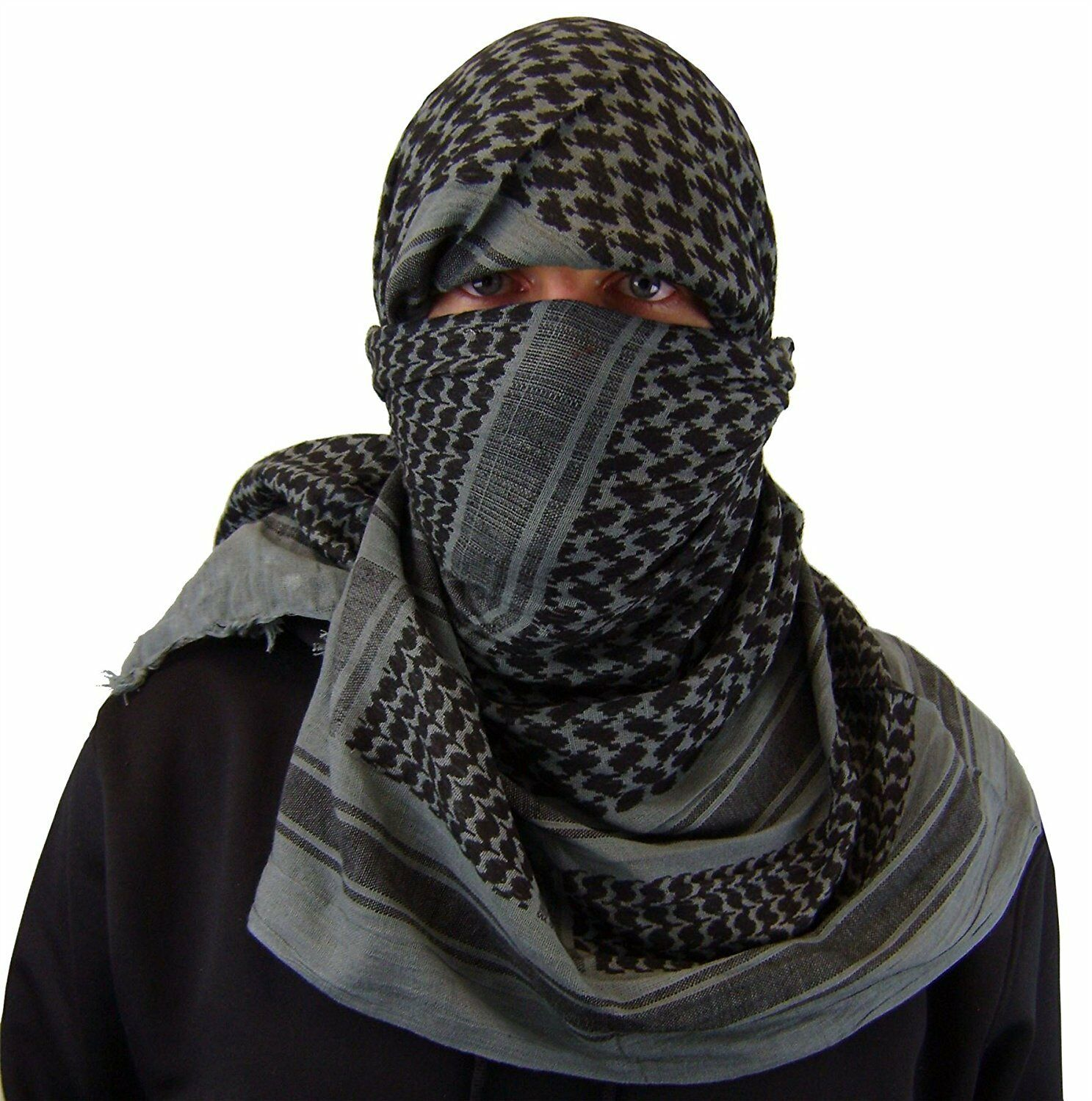 "Shemagh Tactical Military Desert Army Head Scarf 42""x42"" Normal Weight (Grey)"