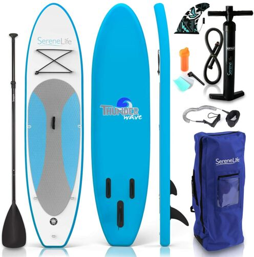 Serene-Life SLSUPB10 10 FT Inflatable Stand Up Paddle Board (SUP) W/ Accessories