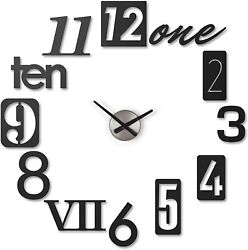 Umbra Numbra Wall Clock Add a modern, creative twist to telling time – with this