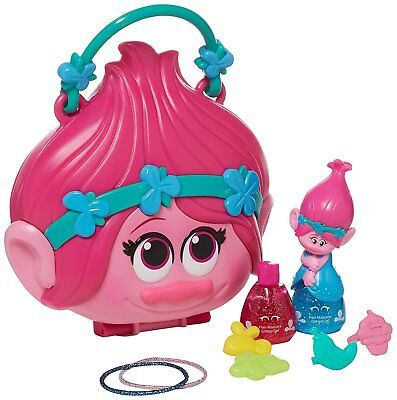 NEW! Trolls Poppy Purse Playset Costume Play Dress Up Makeup Girls Toys  - Cinderella Dress 2017
