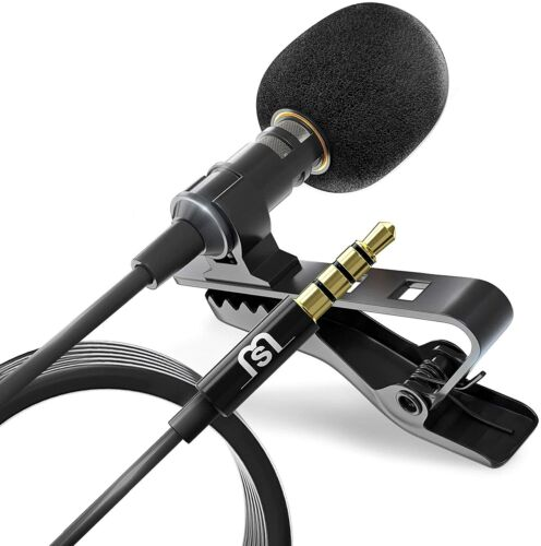 Omnidirectional Lapel Lavalier Microphone Clip-on Condenser Mini Iphone Android