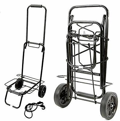 LIGHTWEIGHT FOLDING LUGGAGE CART SUITCASE TROLLEY SACK TRUCK CAMPING TROLLEY