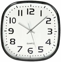 Uniware Round Square Wall Clock, Silent Non Ticking ,Quartz Battery, White