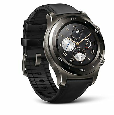 Huawei Watch 2 Time-honoured Smartwatch - Ceramic Bezel- Dastardly Leather Strap