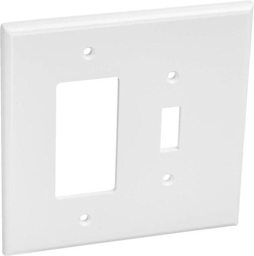 x 2 Leviton 88605 2-Gang 1-Toggle 1-Decora/GFCI Device Combination Wallplates