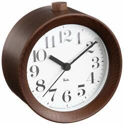 Lemnos RIKI ALARM CLOCK Alarm Clock Brown WR09-15 BW Table Clock JAPAN NEW F/S
