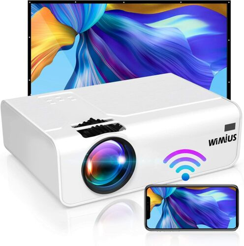 Wimius Wireless 4K Full HD 6200 Lumens Portable Home Movie Video LCD Projector