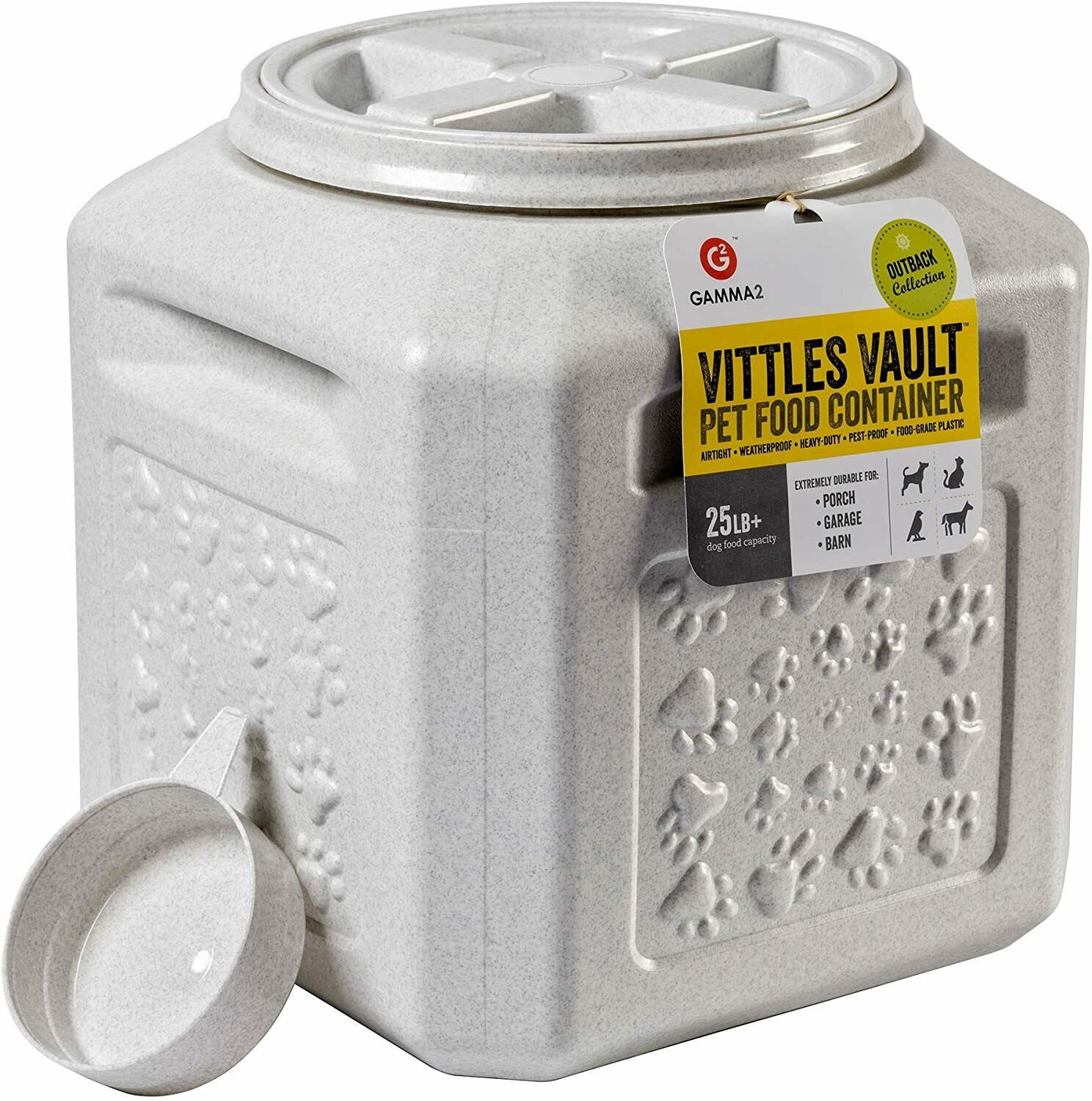 Vittles Vault, Outback Stackable Airtight Pet Food Storage Container, 25 LBS.