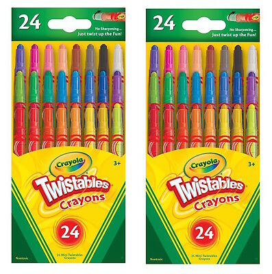 Crayola 9724 Mini Twistables Crayons 24 Pack Non-Toxic SET OF - Twistables Crayons