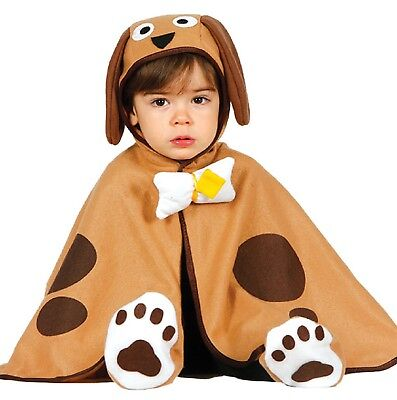 Baby Jungen Mädchen Braun Welpe Tier Kostüm Kleid Outfit 12-24 Monate