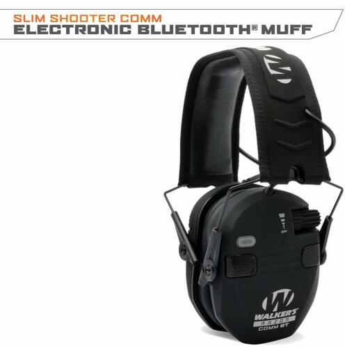 Walkers Razor Slim Shooter Comm Quad Electronic Muff w/ Bluetooth GWP-RSEQM-BT-K