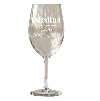 Personalized White Red Wine Glass Glasses 20 Oz Wedding Favor Bridesmaid Mother