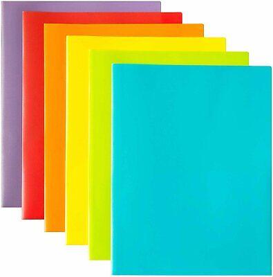 Youngever 12 Pack Plastic Pocket Folders - Heavy Duty Plastic 2 Pocket...