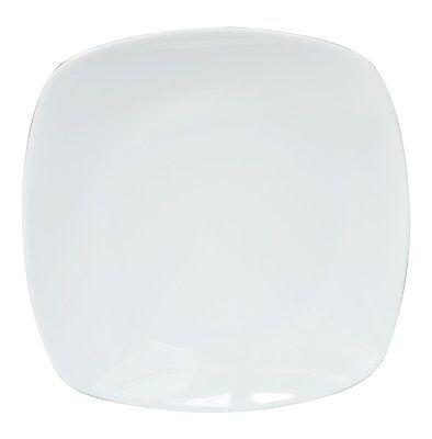 ANGEBOT 60 X Teller flach Eckig Dessertteller 23cm Porzellan Für Gastronomie