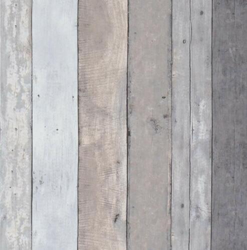 Gray Self Adhesive Wallpaper Contact paper Peel and Sticker Wood Grain Film 3M