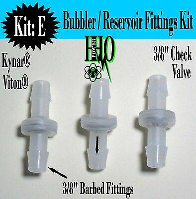 3 38 Kynar Viton Check Valves Hho Bubbler Reservoir Dry Cell Generator