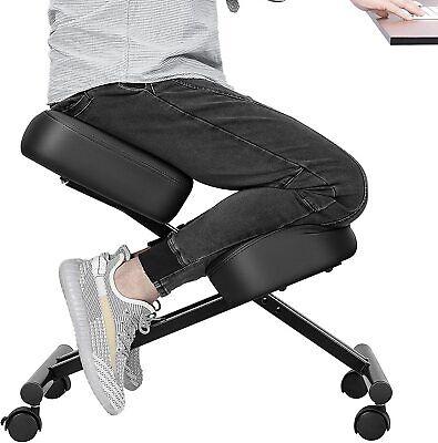 Vivohome Ergonomic Kneeling Chair Adjustable Stool W Thick Foam Cushions Caster