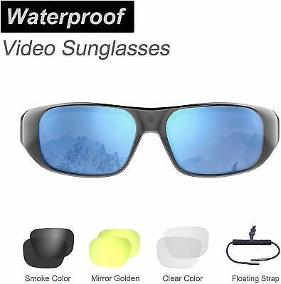 Waterproof Video Sunglasses, 64GB Ultra 1080P HD Outdoor Sports Action (Waterproof Video Sunglasses)