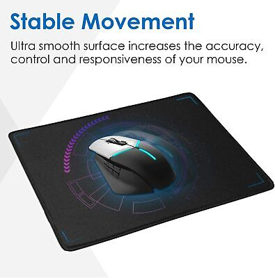 Non-Slip Mouse Pad Stitched Edge PC Laptop For Computer PC Gaming Rubber Base
