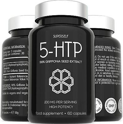 5HTP High Strength 200mg - 5 HTP Supplement 60 Capsules - 200mg 5-HTP Serving fr