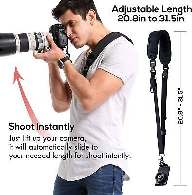 Waka Camera Neck Strap with Quick Release and Safety Tether