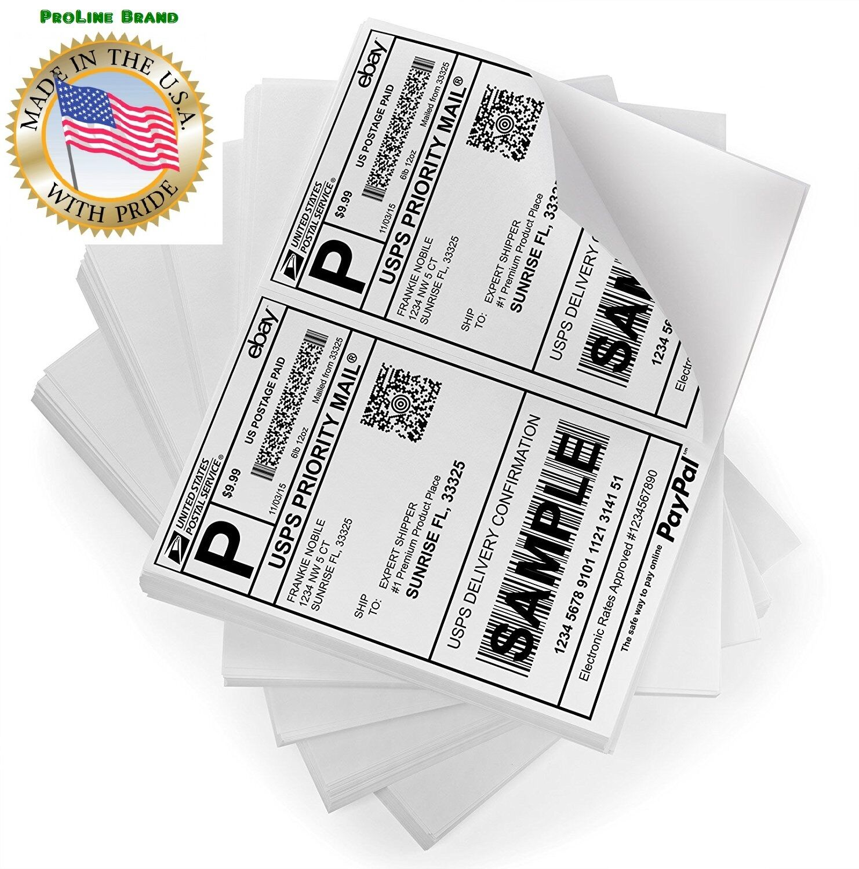 200 8.5x5.5 Premium Shipping Labels Half Sheet Self Adhesive