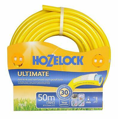Hozelock Ultimate Hose Pipe 50 m Anti-Kink Crushproof Watering Weather-proof New