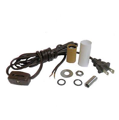 MINI-LAMP KIT CANDLE SKT- BROWN CORD CORD W/LINE SWITCH   TD-400BRN