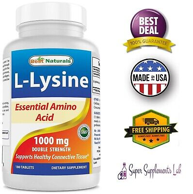 L-LYSINE 1000 mg 180 Tablets Dietary Supplement Amino Acid Bone Immune Support