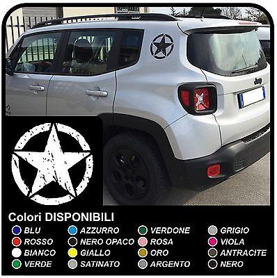 adesivi per montante jeep renegade stella effetto consumato stelle graffiate