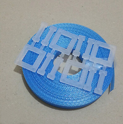 1x Hand pallet Strapping Kit BLUE: 15m 12mm 150kg brake + 4x plastic buckle