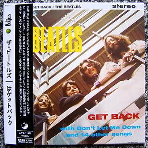 THE BEATLES GET BACK CD mini lp Obi NEW Sealed