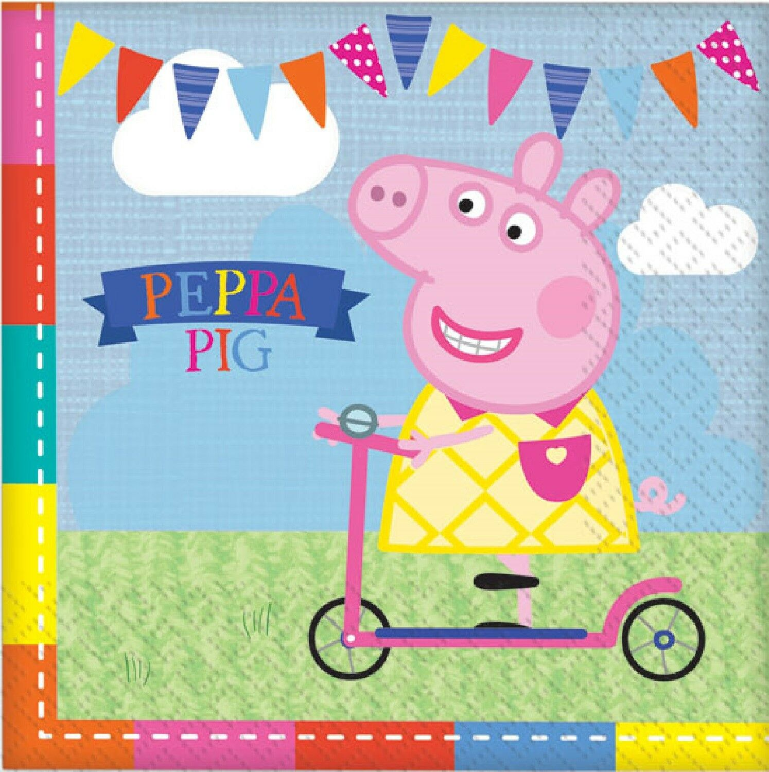 Details About Girls Boys Toddlers Birthday Party Paper Tableware Napkins Peppa Pig George
