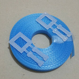 1x Hand pallet Strapping Kit BLUE: 15m 12mm 150kg brake + 2x plastic buckle