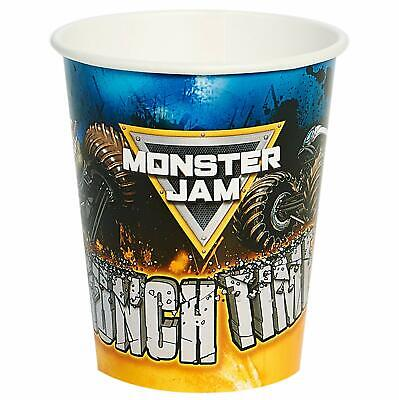 Monster Jam Trucks Grave Digger Boys Kids Birthday Party 9 oz. Paper Cups](Grave Digger Monster Truck Party Supplies)